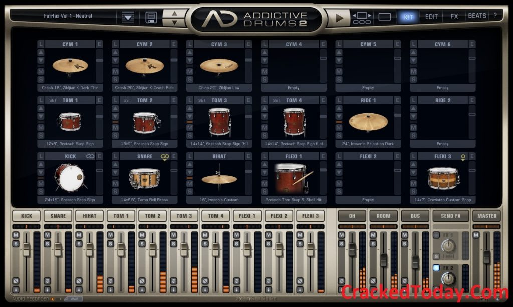 Addictive Drums 2.2.0 Crack Plus Serial Key Free Download